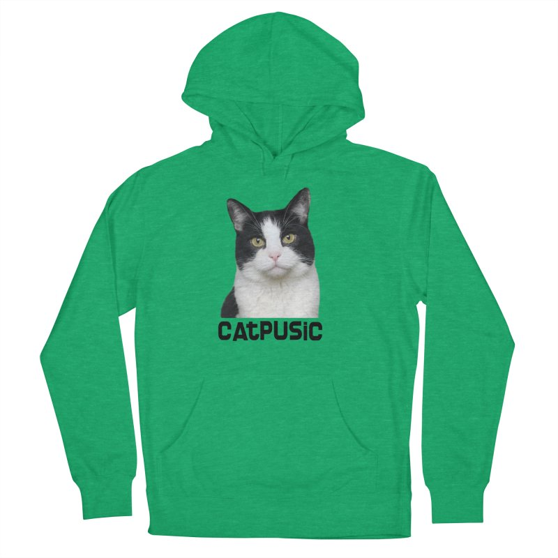 CatPusic Women's French Terry Pullover Hoody by SHOP CatPusic