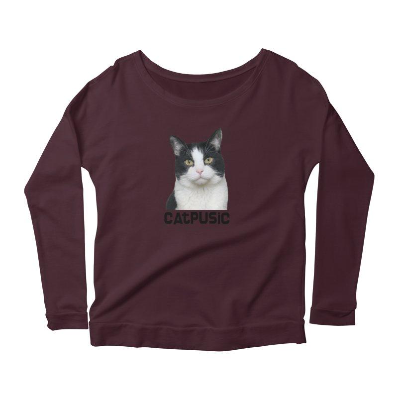 CatPusic Women's Scoop Neck Longsleeve T-Shirt by SHOP CatPusic