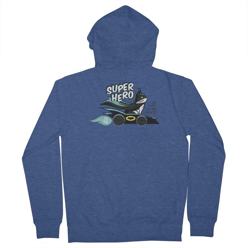 Super Hero Men's Zip-Up Hoody by SHOP CatPusic