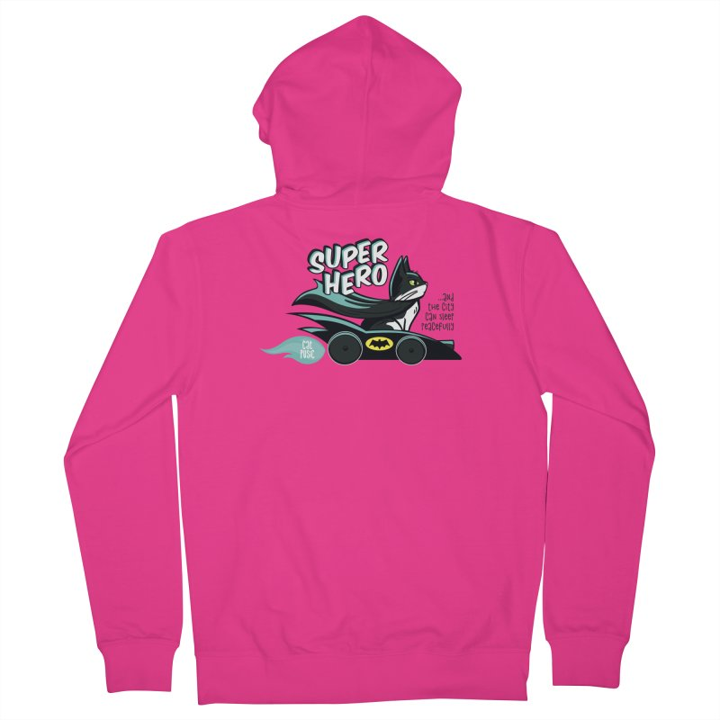Super Hero Men's Zip-Up Hoody by SHOP CatPusic