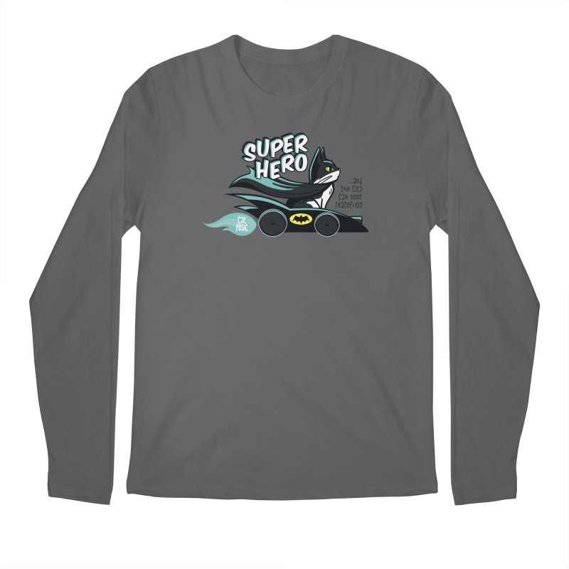 Super Hero Men's Longsleeve T-Shirt by SHOP CatPusic