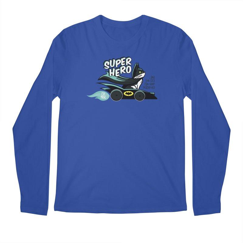 Super Hero Men's Longsleeve T-Shirt by SHOP CatPusic