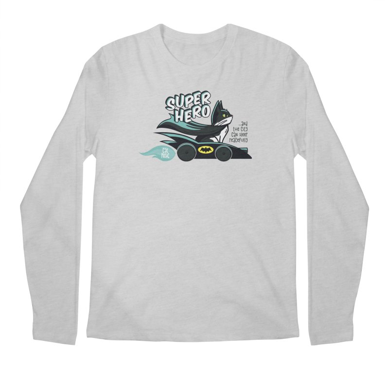 Super Hero Men's Regular Longsleeve T-Shirt by SHOP CatPusic