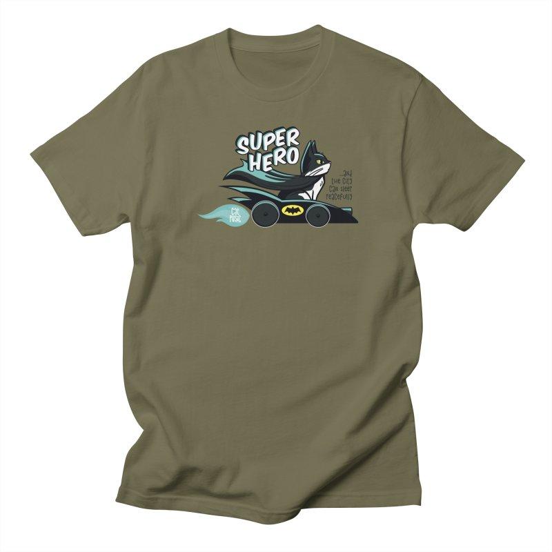 Super Hero Men's T-Shirt by SHOP CatPusic