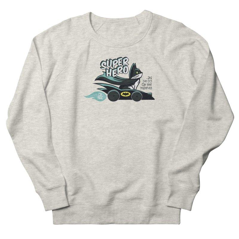Super Hero Women's French Terry Sweatshirt by SHOP CatPusic