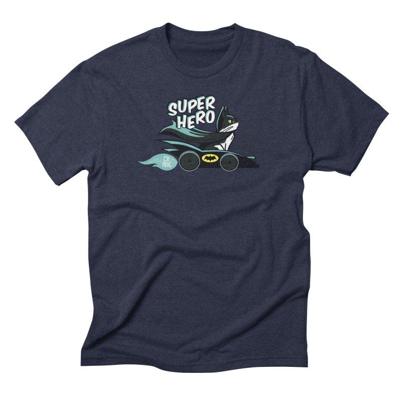 Super Hero Men's Triblend T-Shirt by SHOP CatPusic