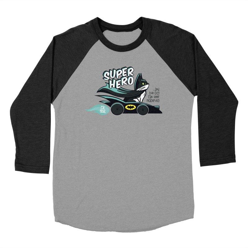 Super Hero Women's Baseball Triblend Longsleeve T-Shirt by SHOP CatPusic
