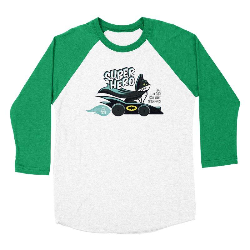 Super Hero Men's Baseball Triblend Longsleeve T-Shirt by SHOP CatPusic
