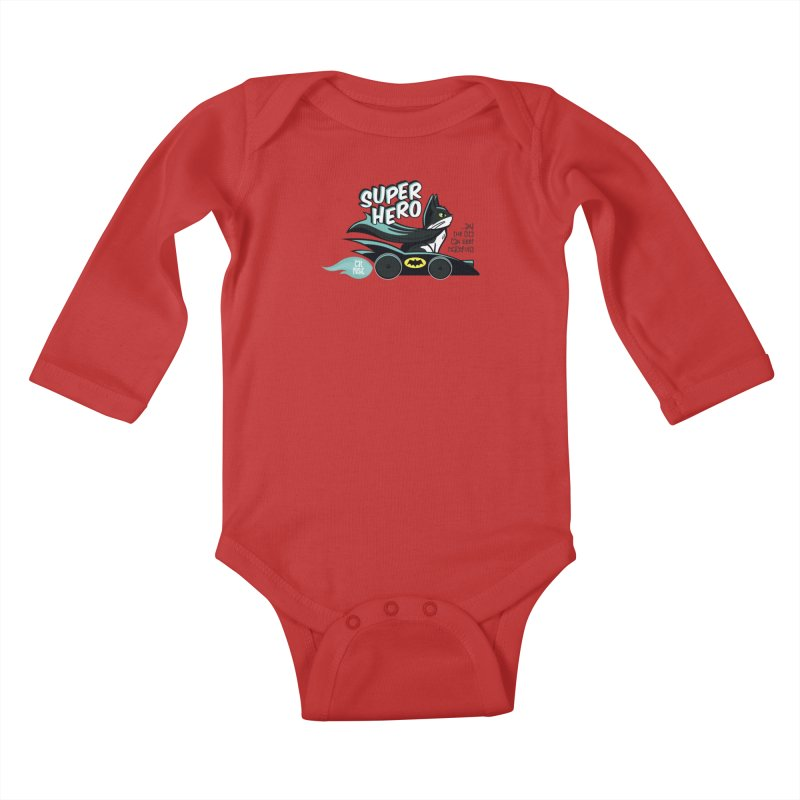 Super Hero Kids Baby Longsleeve Bodysuit by SHOP CatPusic