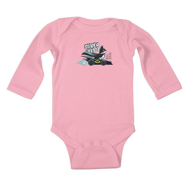 Super Hero Kids Baby Longsleeve Bodysuit by SHOP CatPusic
