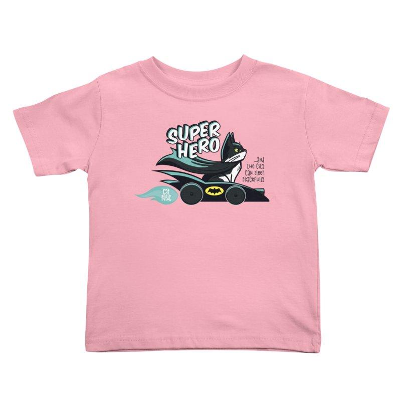 Super Hero Kids Toddler T-Shirt by SHOP CatPusic