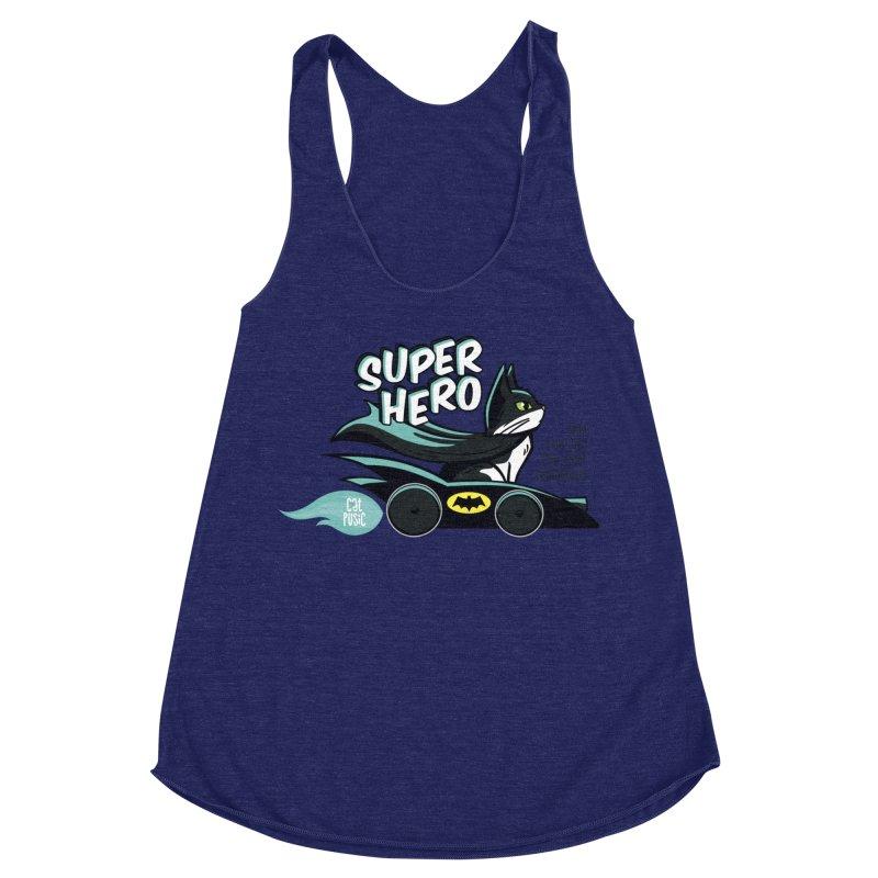 Super Hero Women's Racerback Triblend Tank by SHOP CatPusic