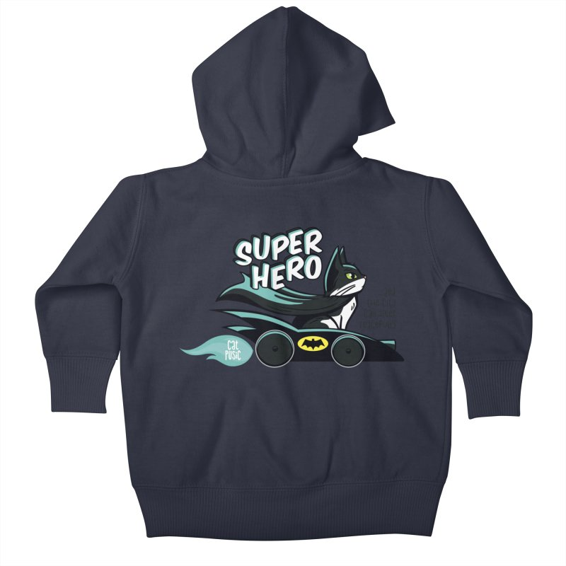 Super Hero Kids Baby Zip-Up Hoody by SHOP CatPusic
