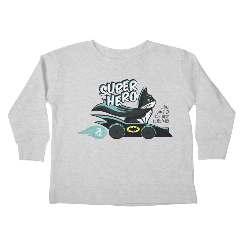Super Hero Kids Toddler Longsleeve T-Shirt by SHOP CatPusic