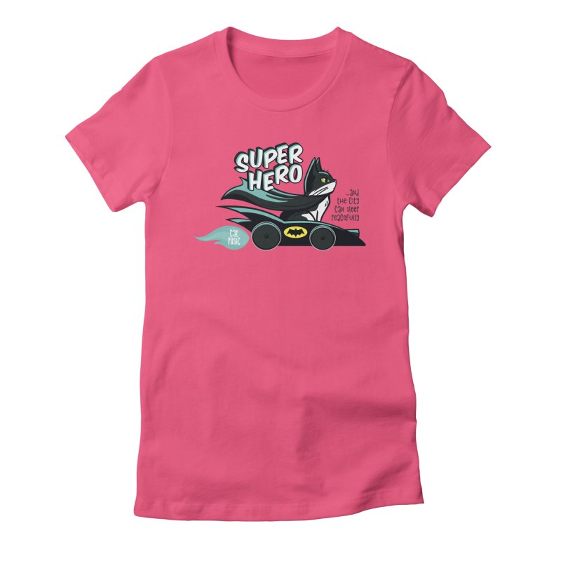 Super Hero Women's Fitted T-Shirt by SHOP CatPusic