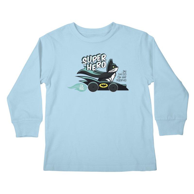 Super Hero Kids Longsleeve T-Shirt by SHOP CatPusic