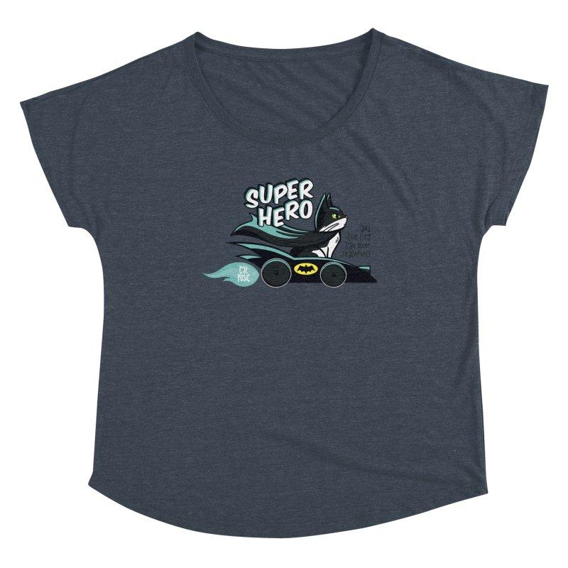 Super Hero Women's Scoop Neck by SHOP CatPusic