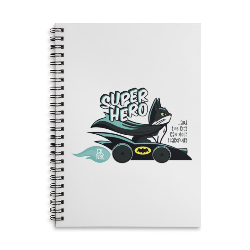 Super Hero Accessories Lined Spiral Notebook by SHOP CatPusic