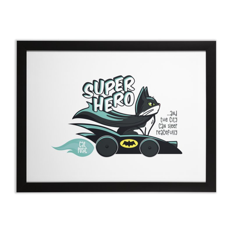 Super Hero Home Framed Fine Art Print by SHOP CatPusic