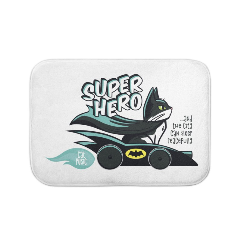 Super Hero Home Bath Mat by SHOP CatPusic