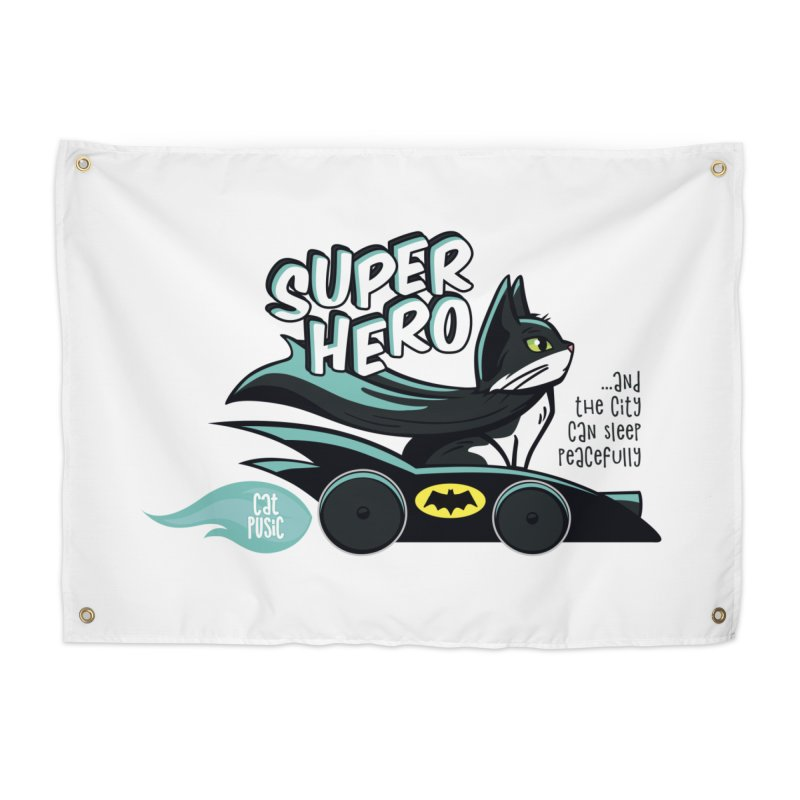 Super Hero Home Tapestry by SHOP CatPusic