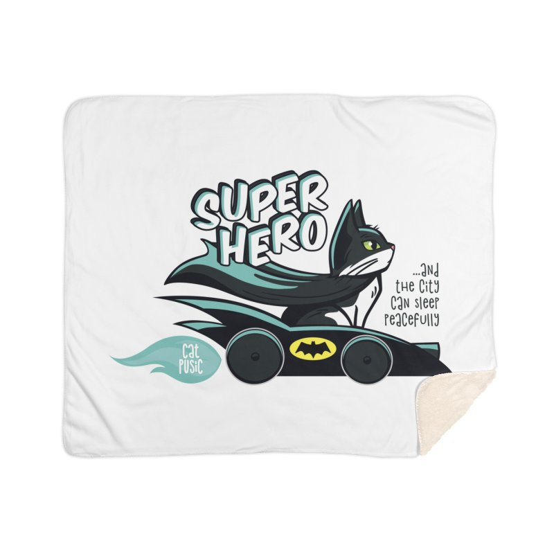 Super Hero Home Sherpa Blanket Blanket by SHOP CatPusic