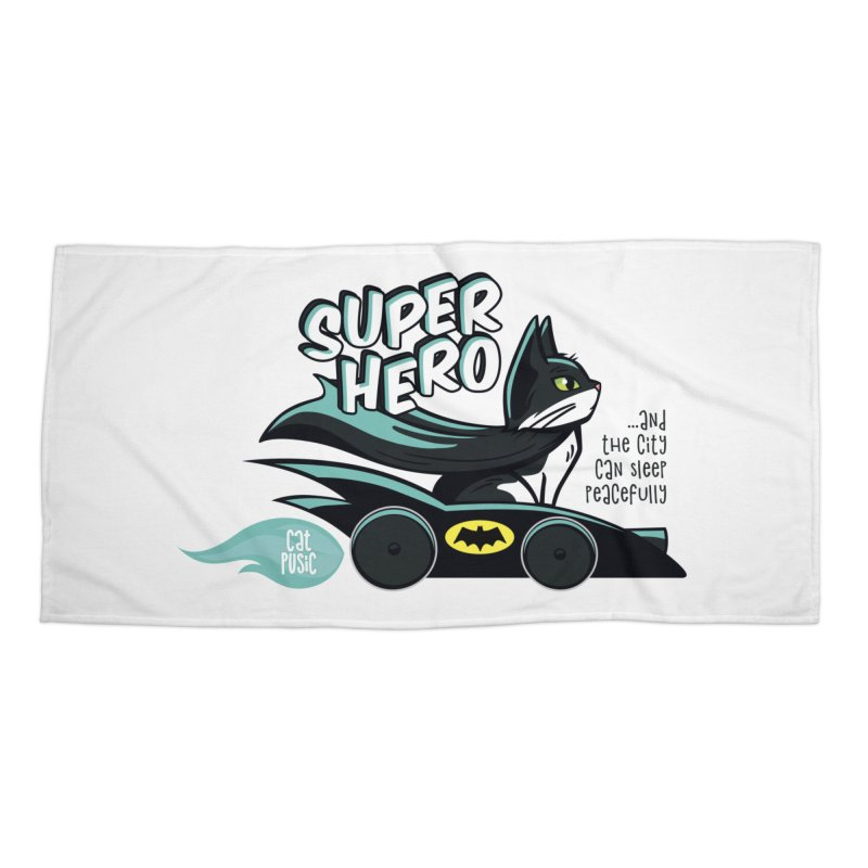 Super Hero Accessories Beach Towel by SHOP CatPusic