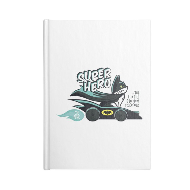 Super Hero Accessories Lined Journal Notebook by SHOP CatPusic