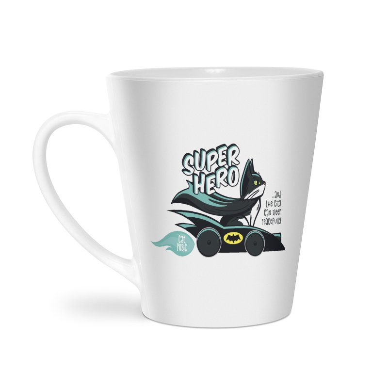 Super Hero Accessories Latte Mug by SHOP CatPusic