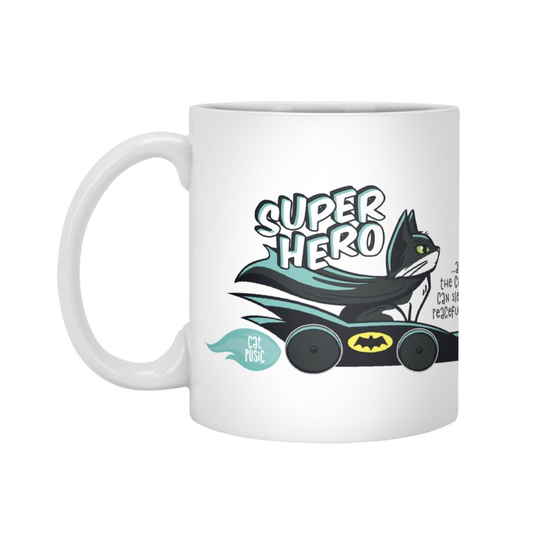 Super Hero Accessories Standard Mug by SHOP CatPusic