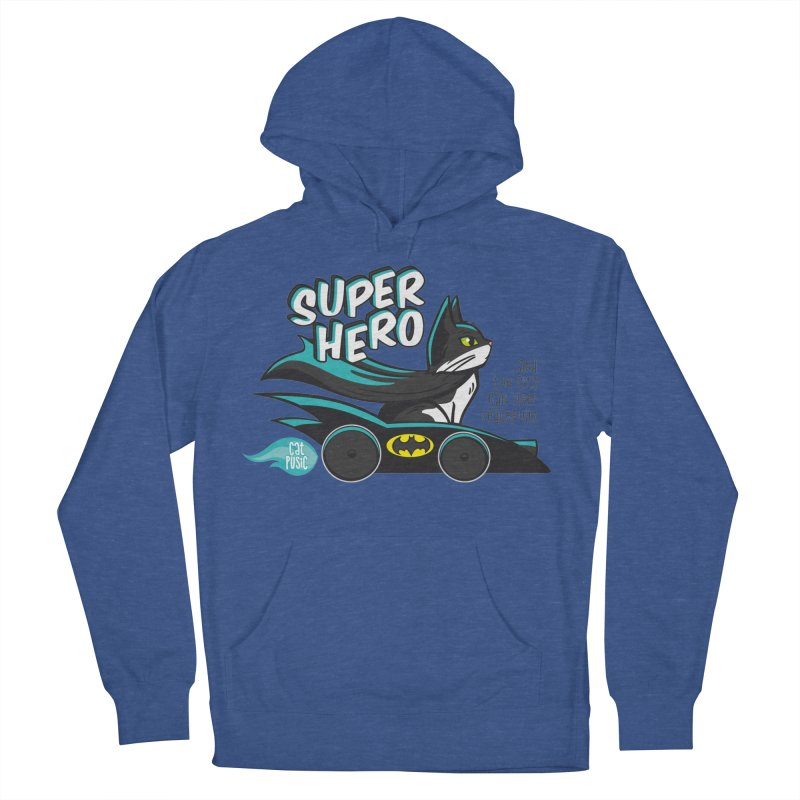 Super Hero Women's Pullover Hoody by SHOP CatPusic