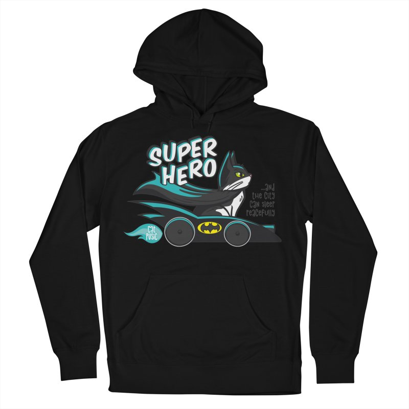 Super Hero Men's Pullover Hoody by SHOP CatPusic