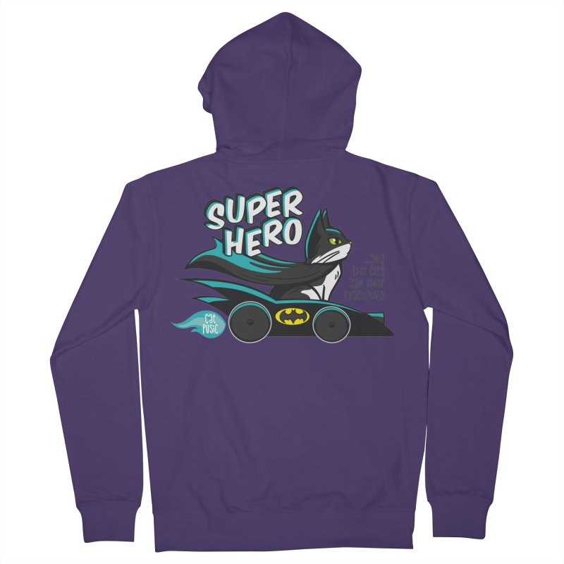 Super Hero Women's Zip-Up Hoody by SHOP CatPusic