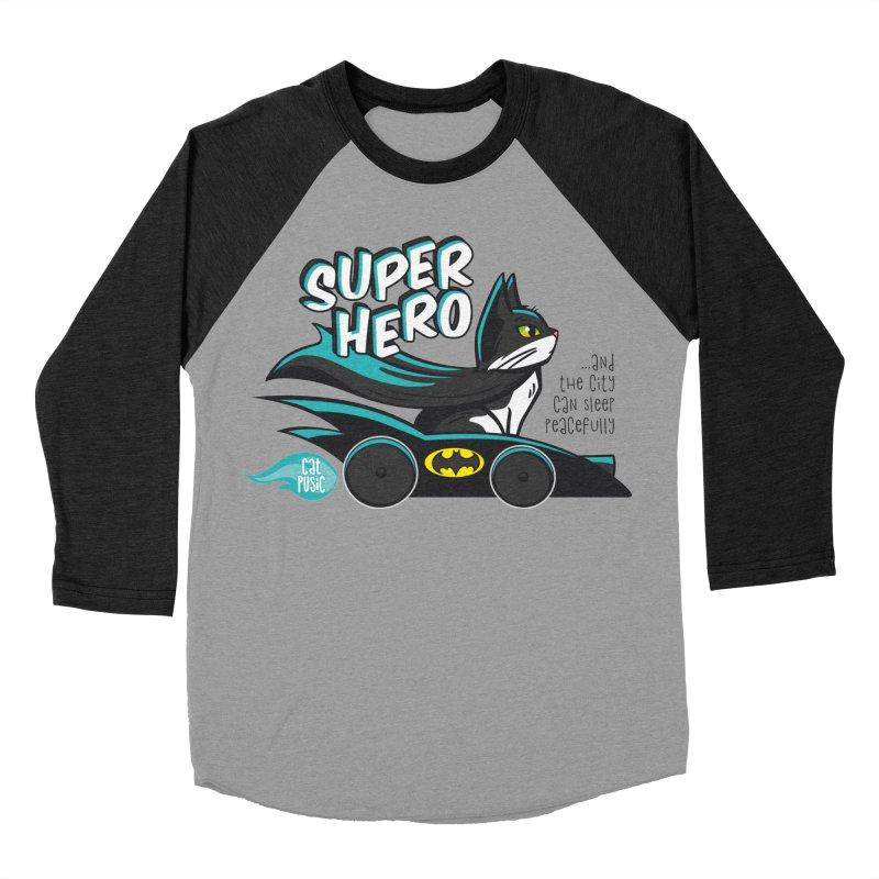 Super Hero Women's Baseball Triblend T-Shirt by SHOP CatPusic