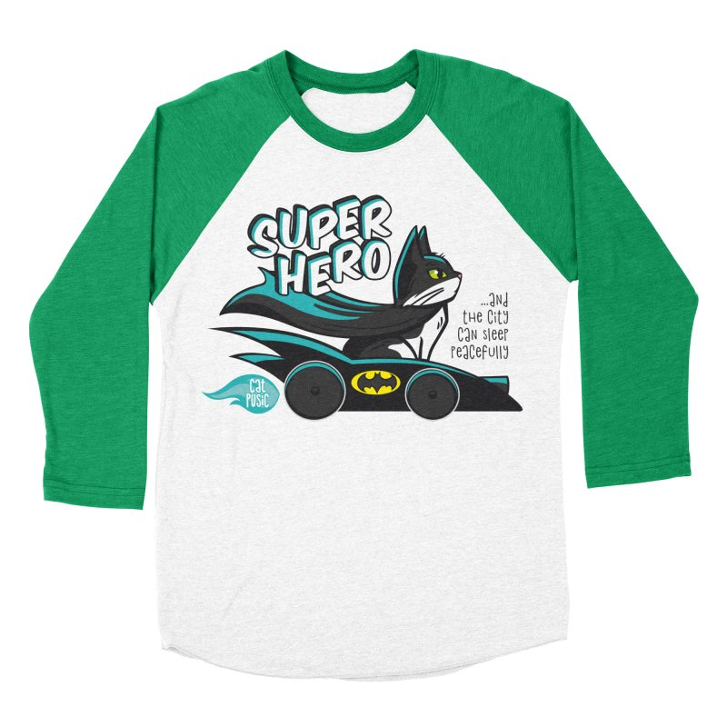 Super Hero Men's Baseball Triblend T-Shirt by SHOP CatPusic