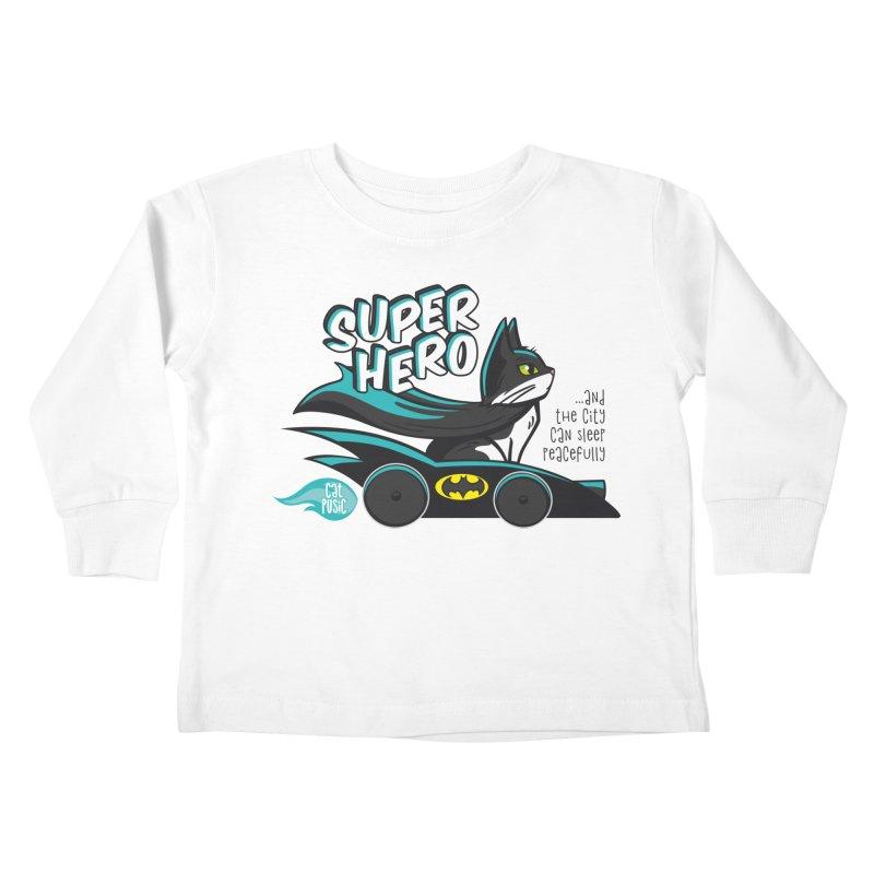 Super Hero Kids Toddler Longsleeve T-Shirt by SHOP CatPusic