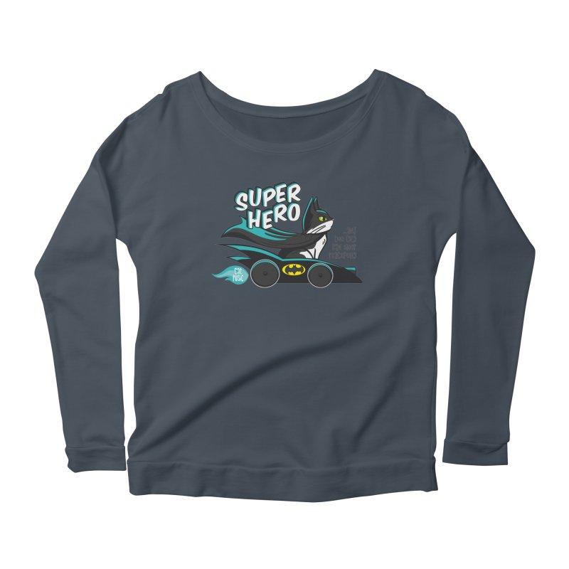 Super Hero Women's Longsleeve Scoopneck  by SHOP CatPusic