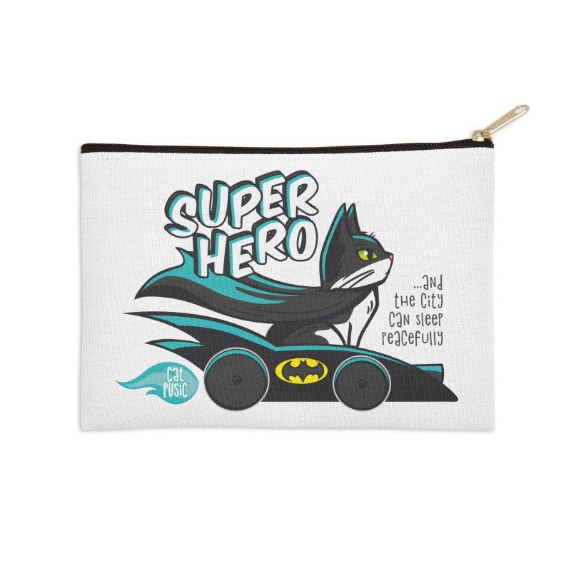 Super Hero Accessories Zip Pouch by SHOP CatPusic
