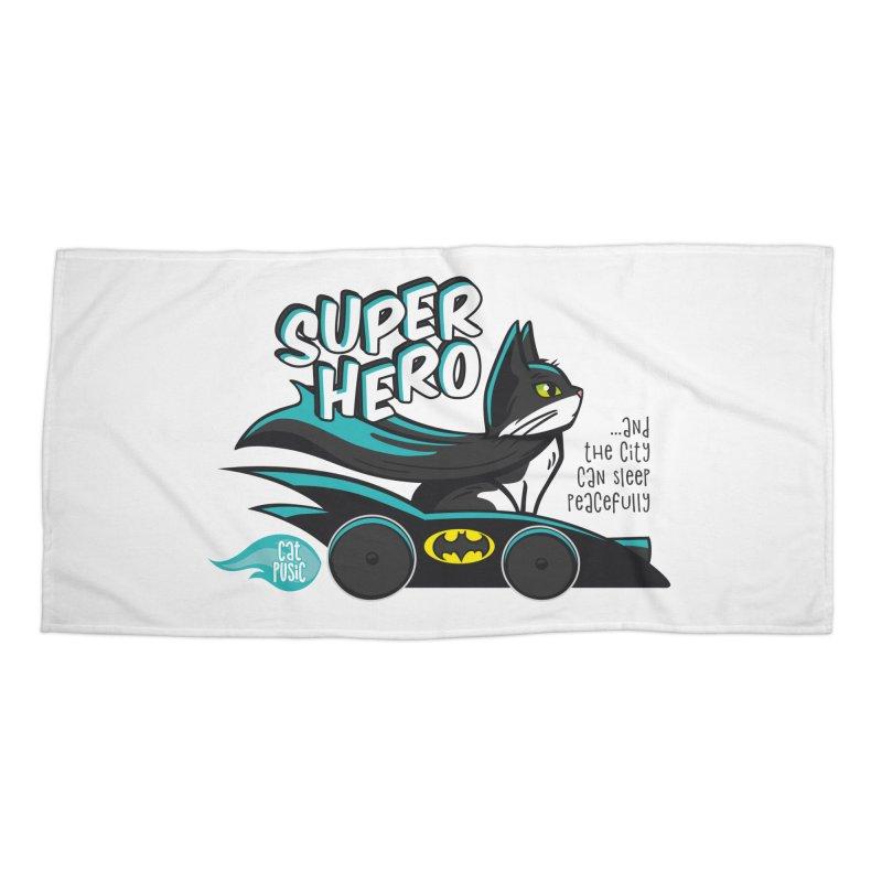 Super Hero Accessories Beach Towel by SHOP CatPusic