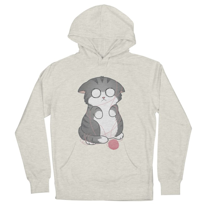 Tangled Kitty Men's Pullover Hoody by Artist Shop of Cattoc C