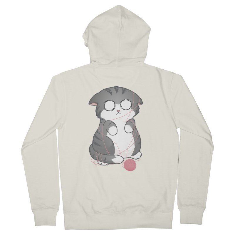 Tangled Kitty Men's Zip-Up Hoody by Artist Shop of Cattoc C