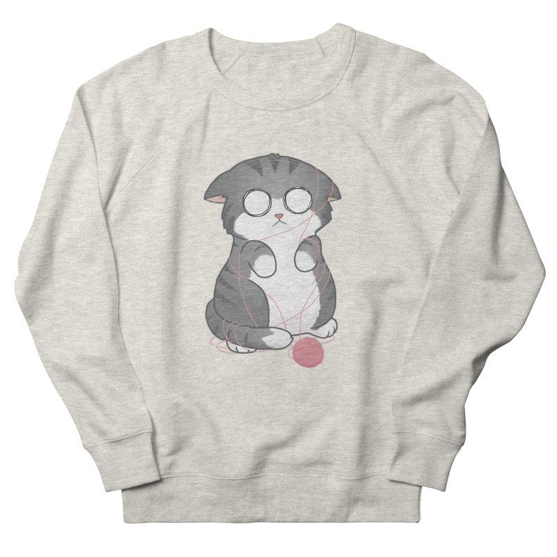 Tangled Kitty Men's Sweatshirt by Artist Shop of Cattoc C