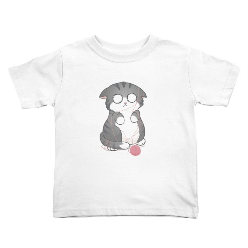 Tangled Kitty Kids Toddler T-Shirt by Artist Shop of Cattoc C