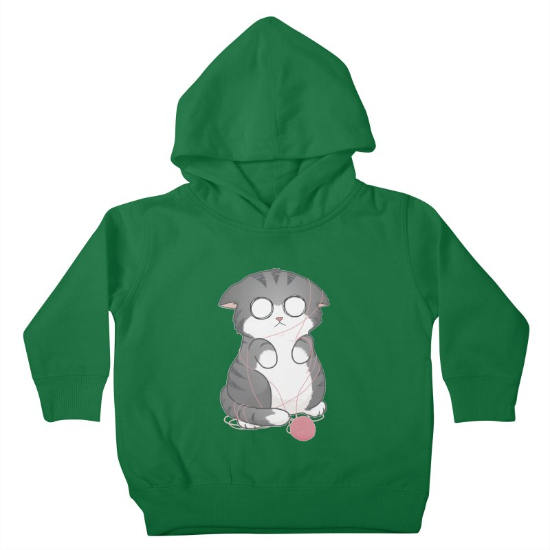 Tangled Kitty Kids Toddler Pullover Hoody by Artist Shop of Cattoc C