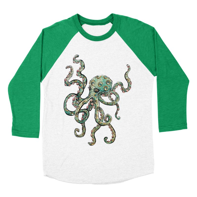 Octopodes Women's Baseball Triblend T-Shirt by cavigliascabinet's Artist Shop