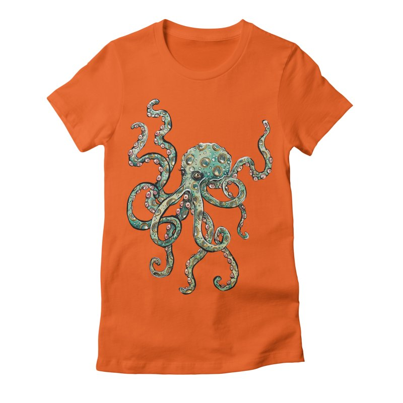 Octopodes Women's Fitted T-Shirt by cavigliascabinet's Artist Shop