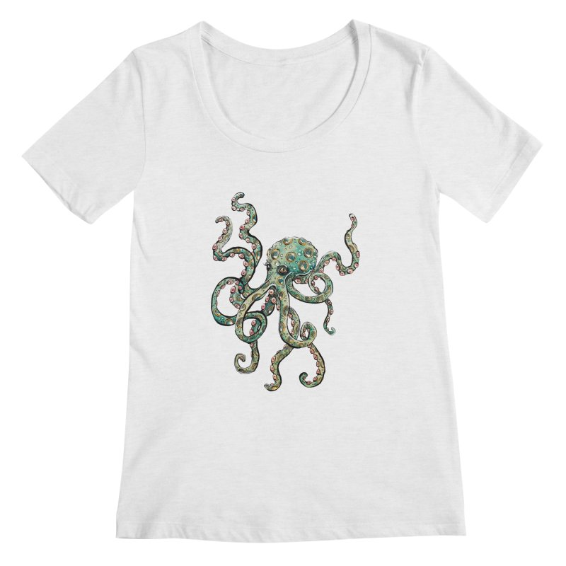 Octopodes Women's Scoopneck by cavigliascabinet's Artist Shop
