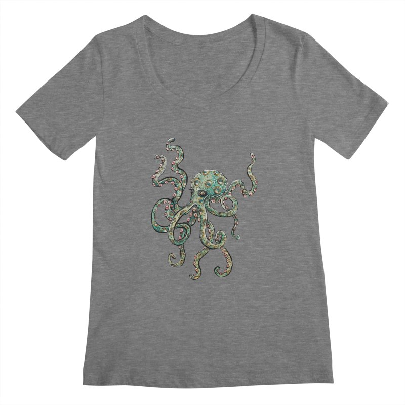 Octopodes Women's Scoopneck by cavigliascabinet's Artist Shop