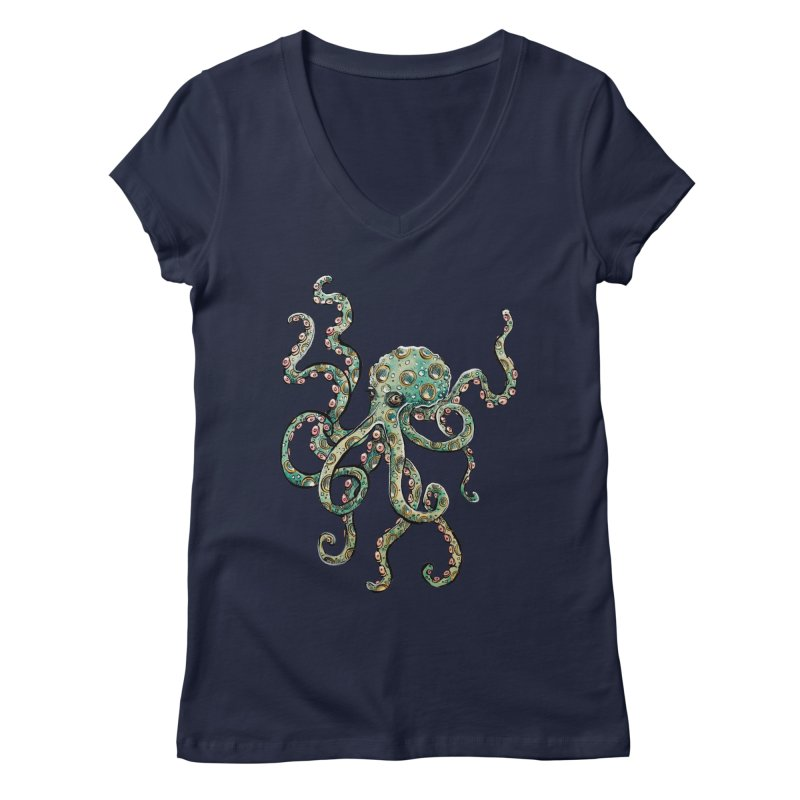 Octopodes Women's V-Neck by cavigliascabinet's Artist Shop