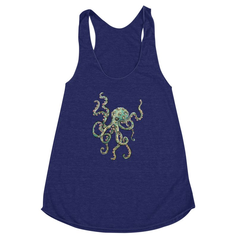 Octopodes Women's Racerback Triblend Tank by cavigliascabinet's Artist Shop
